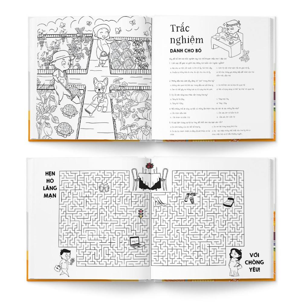 [A116] Trọn bộ sách tô màu cho Mẹ Bầu mang thai lần đầu
