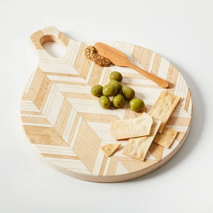American Heirloom Handled Cutting Board - Herringbone | West Elm