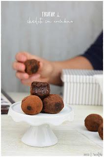 Trufas de chocolate caseras con arándanos- Postre FÁCIL, ECONÓMICO y que SIEMPRE SALE