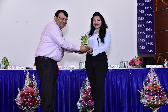 Renowned Criminal Psychologist Mrs. Anuja Kapur invited by IMS Ghaziabad for induction ceremony