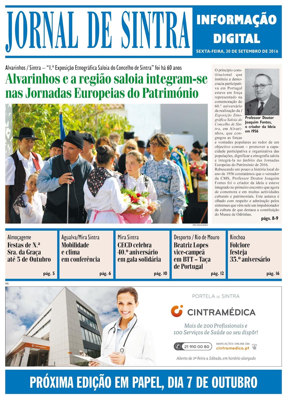 Capa da edição de 30-09-2016