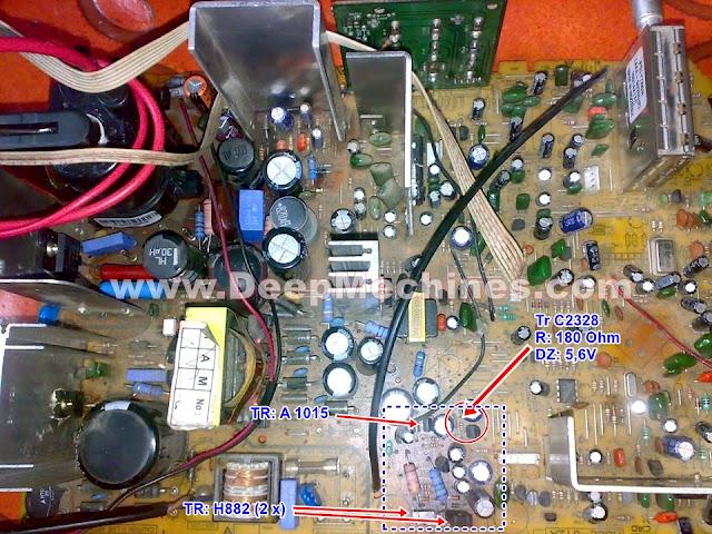 Perbaikan Kerusakan Mati Standby, Indikator Berkedip Cepat TV Polytron 29-Inch U-Slim (PS 30UV26RA)