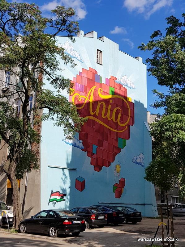 Warszawa Warsaw plac zabaw streetart graffiti Praga Północ praskie klimaty Ania