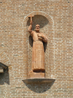 The statue of St Lawrence at the Convent of Capuchin Friars in Rovigo
