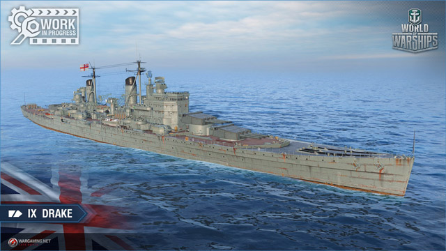 British cruiser Drake, tier IX