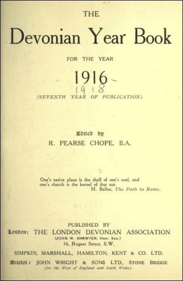 The Devonian Year Book for the Year 1916