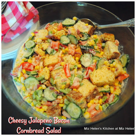 Cheesy Jalapeno Bacon Cornbread Salad