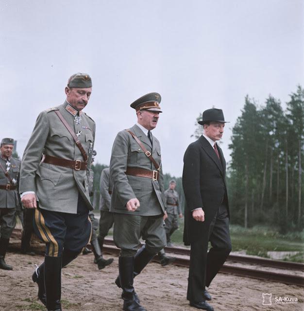 Mannerheim, Hitler, and Ryti. 4 June 1942 worldwartwo.filminspector.com