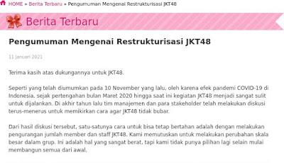 restrukturisasi jkt48