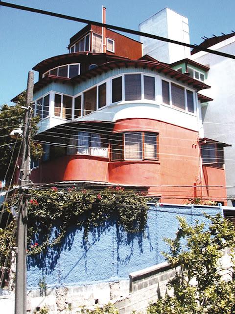 La Sebastiana, house of Pablo Neruda Nobel Prize, Valparaiso, Chile