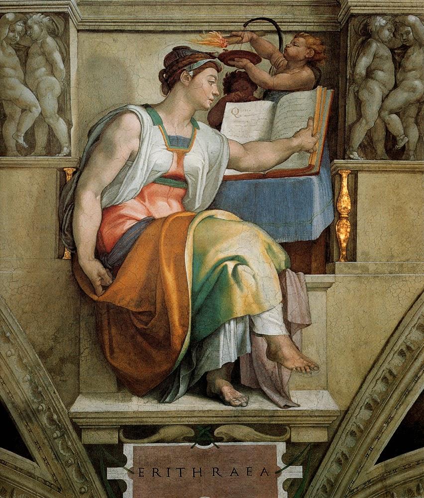 Erithraea - Michelangelo Buonarroti e suas pinturas (Renascimento) Italiano