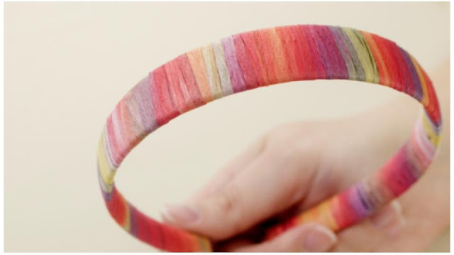 make a raffia headband tutorial