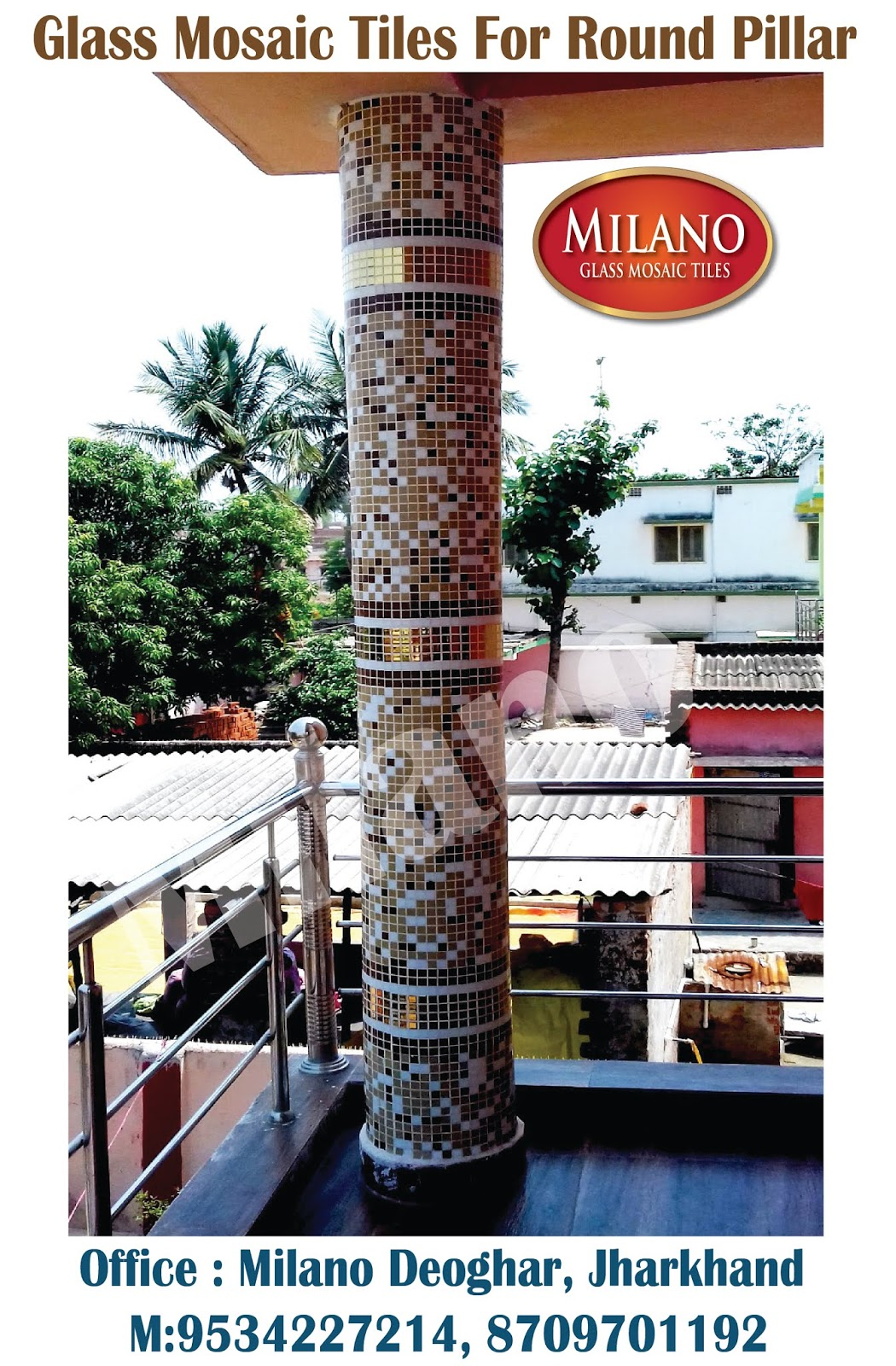 Pillar And Tiles Used In Round Pillars