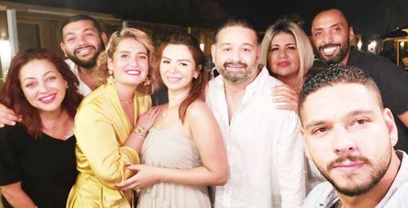 امير شاهين : أول صور من حفل خطوبة أمير شاهين على منة جاب الله