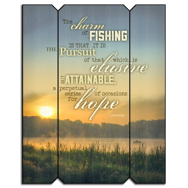 Charm of Fishing Wood Wall Décor