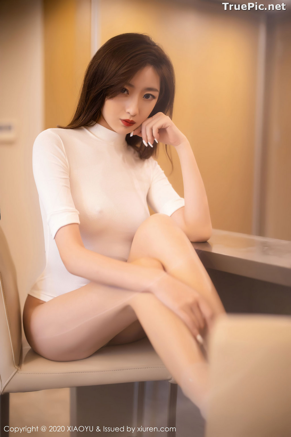 Image XiaoYu Vol.389 - Chinese Model - 安琪 Yee - Beautiful In White - TruePic.net - Picture-7