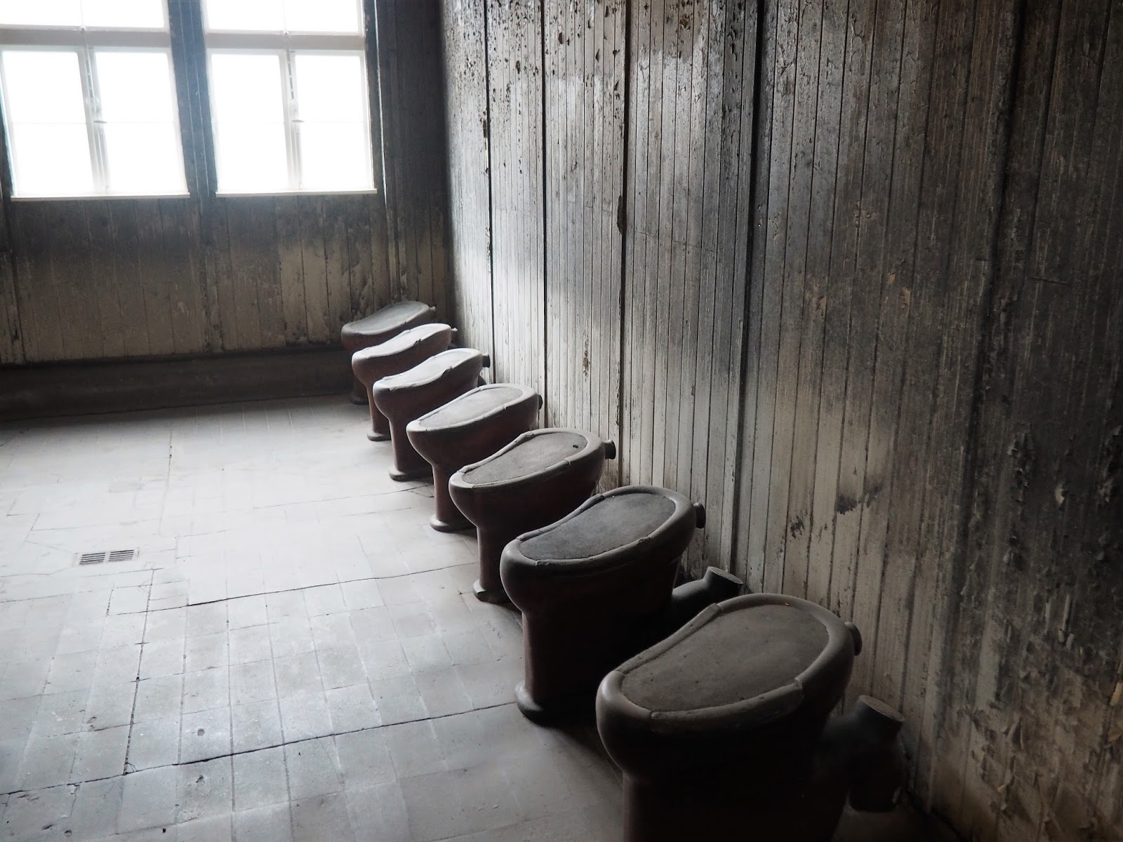 Sachsenhausen Concentration Camp bathroom