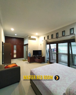 Master Bed Room Rumah 2 Lantai Semi Furnished 3 Kamar Tidur di Komplek Bumi Asri Jalan Asrama Pondok Kelapa Helvetia Medan