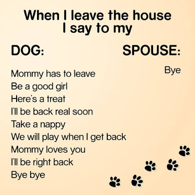 When i leave the house i say to my...