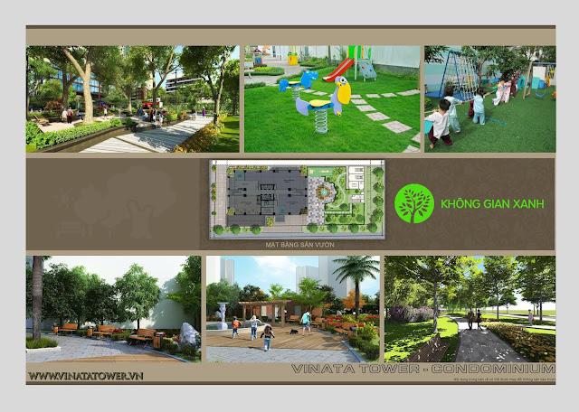 Không gian xanh chung cư Vinata