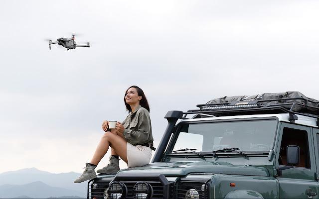 DJI Mavi Air 2 Drone In Flight