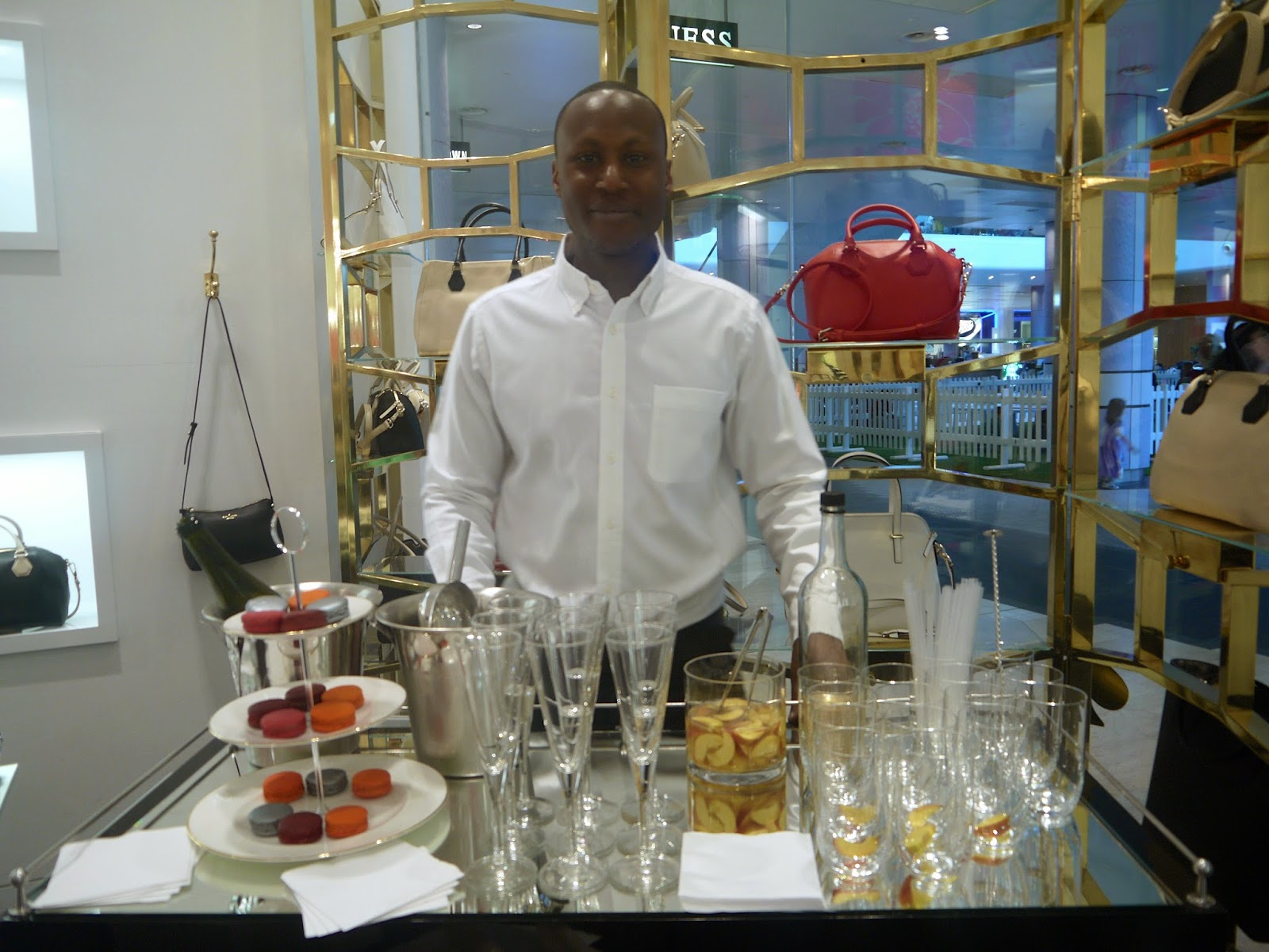 Drinks and Snacks at Kate Spade Event