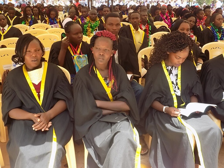 Graduands during St Marks Kigari Teachers College 81st graduation ceremony where 643 graduands (409 females and 234 males) were awarded P1 certificates