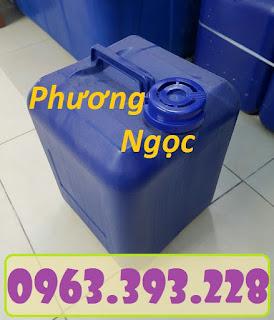 Can nhựa vuông đựng hóa chất, can nhựa 20 Lít, can nhựa loại dày 12e6b56b799b9fc5c68a