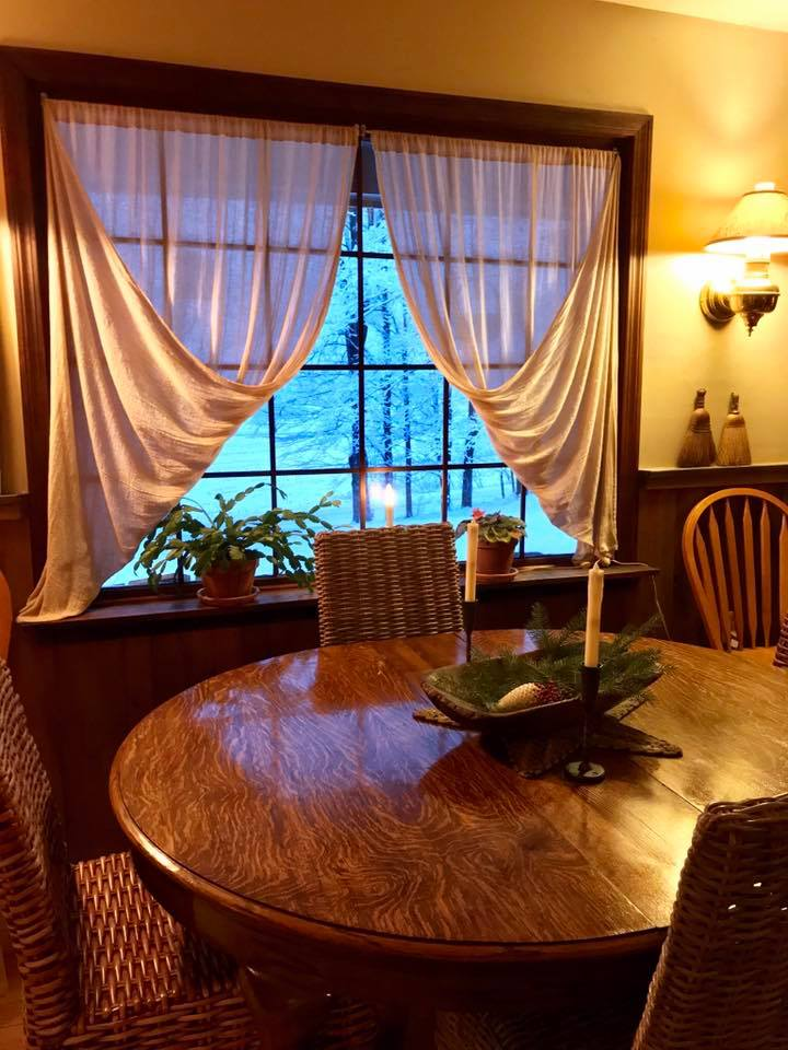 Our dining room on a snowy winters' day..my favorite!!!!