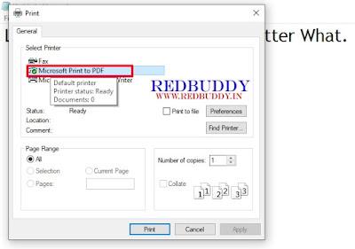 Create A PDF File: Step-2