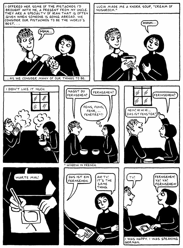 Read Chapter 1 - The Soup, page 8, from Marjane Satrapi's Persepolis 2 - The Story of a Return