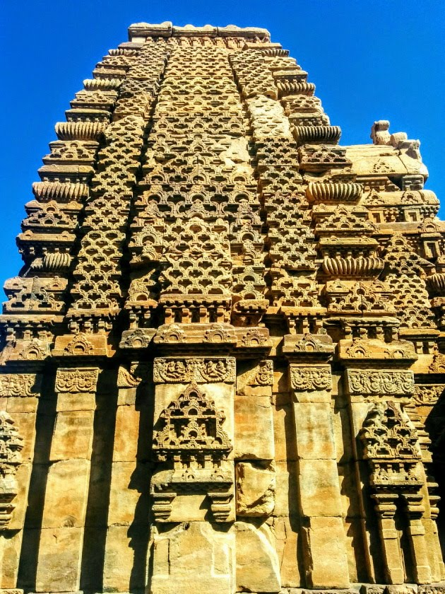 Intricate work on the temples of Pattadakkal, Karnataka