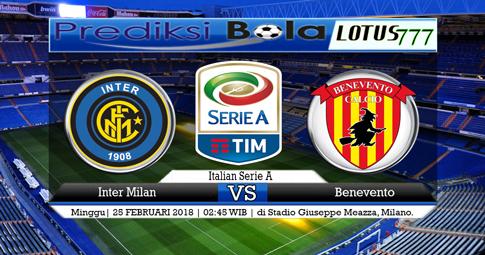 PREDIKSI SKOR  Inter Milan vs Benevento  25 FEBRUARI 2018