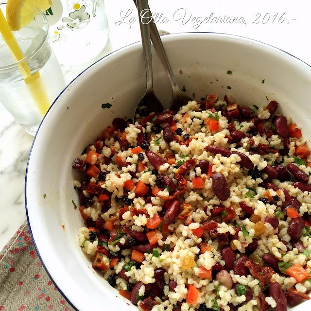 La olla vegetariana ensalada de arroz integral con frutos - Ensalada de arroz light ...