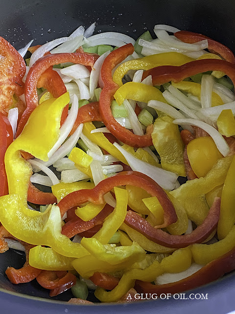peppers and onions in the slow cooker