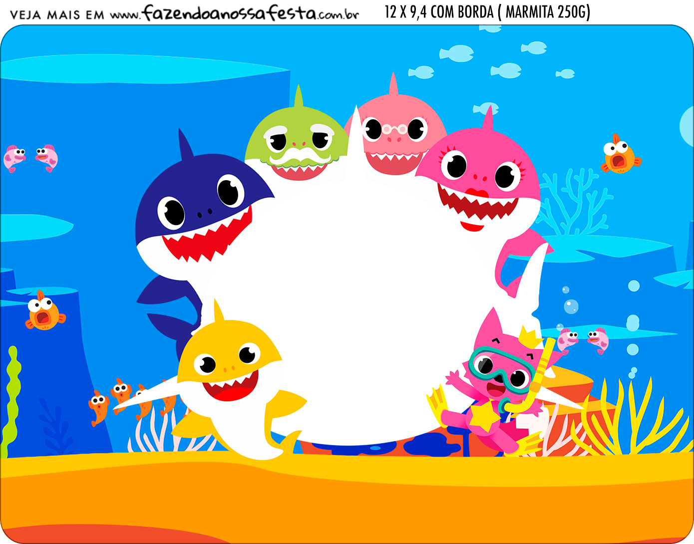 baby shark party free printable candy