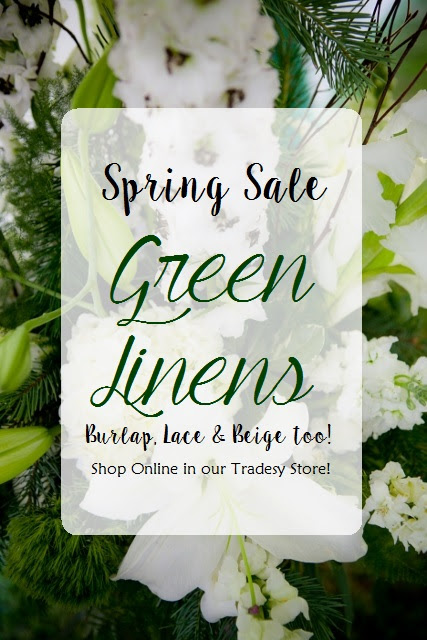 Spring Collections: Gorgeous Greens {For Sale Linens, Burlap & More!}