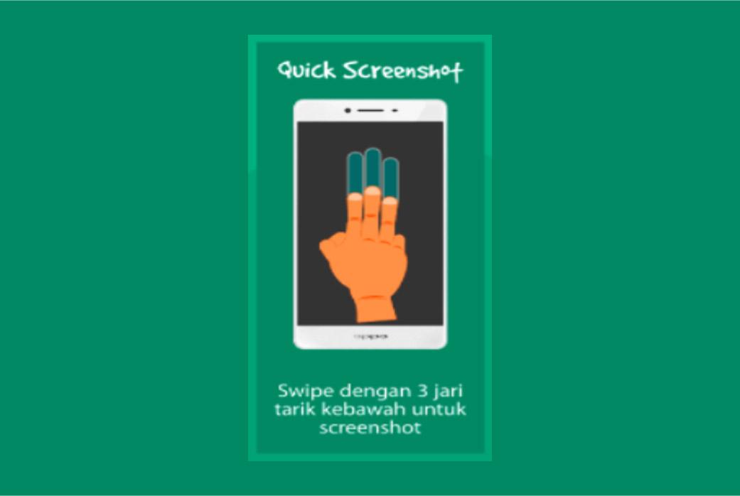 Quick screenshot di smartphone Oppo menggunakan Fitur Gesture