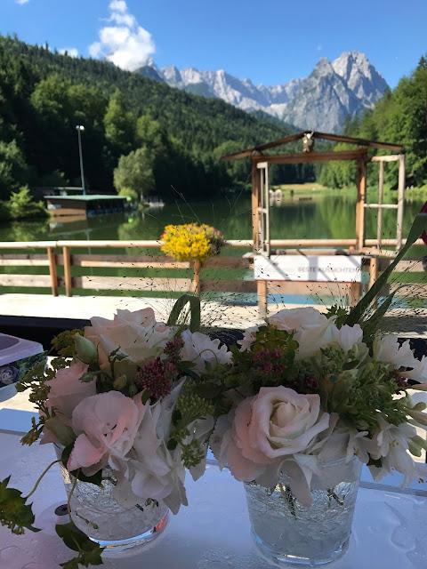 Seeterrasse, 4 Hochzeiten und eine Traumreise 2.0 im Riessersee Hotel Garmisch-Partenkirchen, Traumlocation am See in den Bergen, 2017