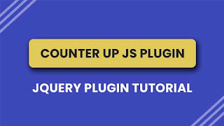 How to use Counter up js in your website