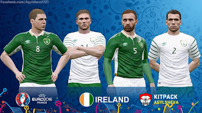 PES 2016 Rep. Ireland Euro 2016 Kits By Agylsheva