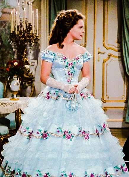 Sissi (Romy Shinaider) vestido azul de baile