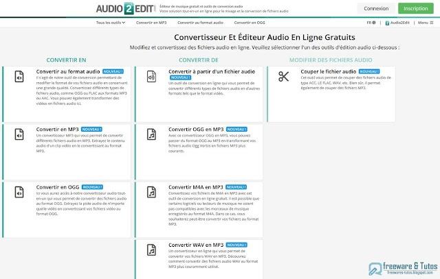 Audio2Edit : un outil en ligne multi-fonctions pour la conversion et l'édition des fichiers audio