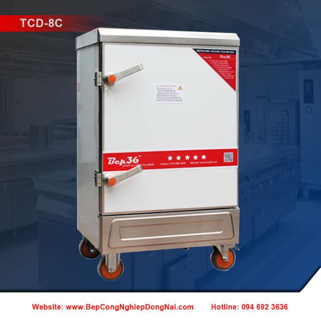 Tủ nấu cơm 8 khay dùng điện TCD-8C