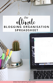 The Ultimate Blogging Organisation Spreadsheet - FREE download for you to get your blogging process more organised and streamlined, saving you lots of time. Contains a post schedule, stats tracker, to do lists, goals and plenty more. | www.hannahemilylane.com