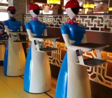 Robot pelayan canggih di restoran berbagai negara