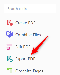 خيار تصدير PDF