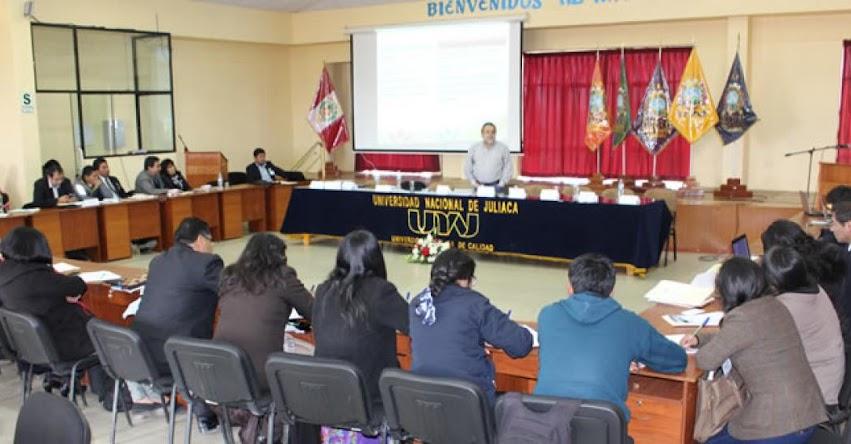 UNAJ: Comisión Organizadora de la Universidad Nacional de Juliaca viene realizando el Rediseño Curricular acorde a las necesidades de la región Puno - www.unaj.edu.pe