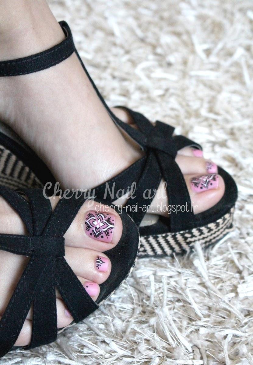 nail-art-pieds-pedicure-oriental-mandala