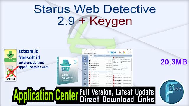 Starus Web Detective 2.9 + Keygen_ ZcTeam.id